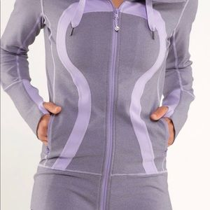 Lululemon Stride Jacket Lilac Size 2 Rare Hooded
